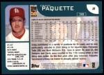2001 Topps #8  Craig Paquette  Back Thumbnail