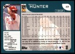 2001 Topps #13  Brian Hunter  Back Thumbnail