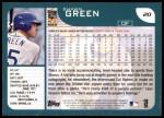 2001 Topps #20  Shawn Green  Back Thumbnail