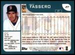 2001 Topps #27  Jeff Fassero  Back Thumbnail