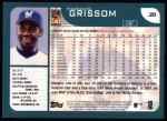 2001 Topps #38  Marquis Grissom  Back Thumbnail