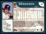 2001 Topps #54  Peter Bergeron  Back Thumbnail