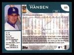 2001 Topps #55  Dave Hansen  Back Thumbnail