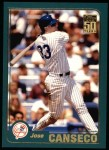 2001 Topps #61  Jose Canseco  Front Thumbnail