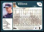 2001 Topps #79  Aaron Boone  Back Thumbnail