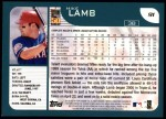 2001 Topps #91  Mike Lamb  Back Thumbnail
