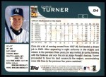 2001 Topps #94  Chris Turner  Back Thumbnail