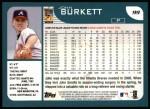 2001 Topps #99  John Burkett  Back Thumbnail