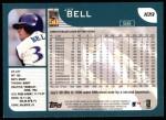 2001 Topps #109  Jay Bell  Back Thumbnail