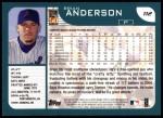 2001 Topps #112  Brian Anderson  Back Thumbnail