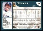 2001 Topps #121  Rich Becker  Back Thumbnail
