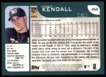 2001 Topps #155  Jason Kendall  Back Thumbnail