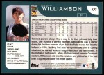 2001 Topps #171  Scott Williamson  Back Thumbnail