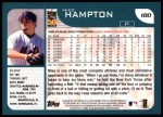 2001 Topps #180  Mike Hampton  Back Thumbnail