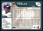 2001 Topps #184  Carlos Febles  Back Thumbnail