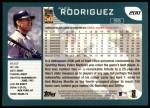 2001 Topps #200  Alex Rodriguez  Back Thumbnail
