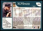2001 Topps #205  Edgardo Alfonzo  Back Thumbnail