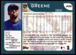 2001 Topps #208  Willie Greene  Back Thumbnail