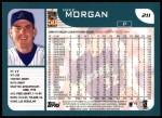 2001 Topps #211  Mike Morgan  Back Thumbnail