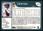 2001 Topps #213  Matt Lawton  Back Thumbnail