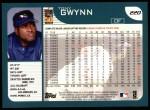 2001 Topps #220  Tony Gwynn  Back Thumbnail