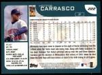 2001 Topps #222  Hector Carrasco  Back Thumbnail
