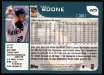 2001 Topps #225  Bret Boone  Back Thumbnail