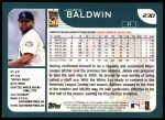 2001 Topps #230  James Baldwin  Back Thumbnail