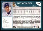 2001 Topps #231  C.J. Nitkowski  Back Thumbnail