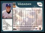2001 Topps #243  Dave Magadan  Back Thumbnail