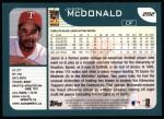 2001 Topps #282  Jason McDonald  Back Thumbnail