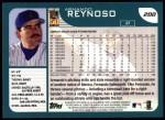 2001 Topps #288  Armando Reynoso  Back Thumbnail