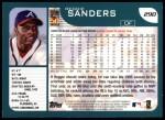2001 Topps #290  Reggie Sanders  Back Thumbnail