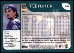2001 Topps #318  Darrin Fletcher  Back Thumbnail