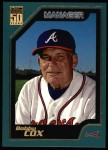 2001 Topps #323  Bobby Cox  Front Thumbnail