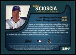 2001 Topps #324  Mike Scioscia  Back Thumbnail