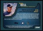2001 Topps #334  Buddy Bell  Back Thumbnail