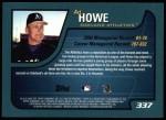 2001 Topps #337  Art Howe  Back Thumbnail