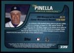2001 Topps #339  Lou Piniella  Back Thumbnail