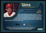 2001 Topps #343  Johnny Oates  Back Thumbnail