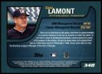 2001 Topps #348  Gene Lamont  Back Thumbnail