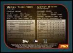 2001 Topps #360  Derek Thompson / Corey Smith  Back Thumbnail