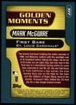 2001 Topps #377  Mark McGwire  Back Thumbnail