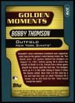 2001 Topps #379  Bobby Thomson  Back Thumbnail