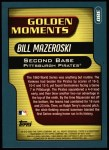 2001 Topps #380  Bill Mazeroski  Back Thumbnail