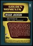 2001 Topps #381  Reggie Jackson  Back Thumbnail
