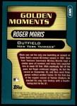 2001 Topps #383  Roger Maris  Back Thumbnail