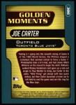 2001 Topps #386  Joe Carter  Back Thumbnail