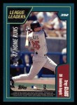 2001 Topps #392   -  Sammy Sosa / Troy Glaus League Leaders Back Thumbnail