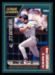 2001 Topps #394   -  Todd Helton / Nomar Garicaparra League Leaders Back Thumbnail